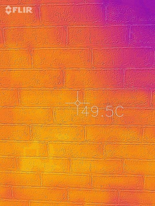 外壁が50℃!!